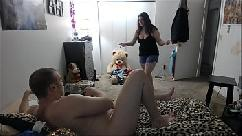 Brother caught in bratty sisters bedroom